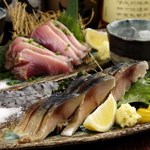 〆鯖の藁焼きとよこわの藁焼き